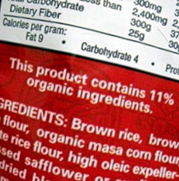 What are the labels of food for?