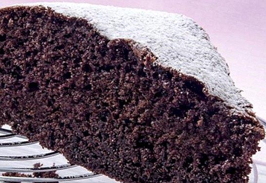 Receitas - Bolo de esponja de chocolate fácil, rápido e fofo: receita