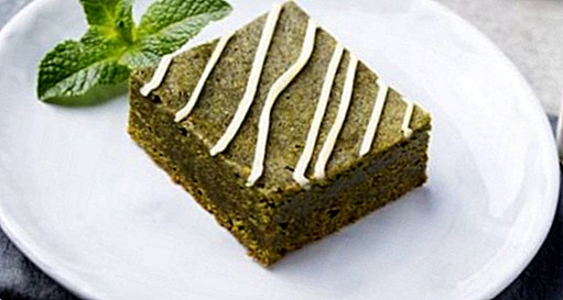 Brownies of white chocolate and green tea: soft and fluffy recipe