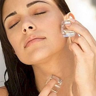 How to improve and refresh the skin with ice cubes